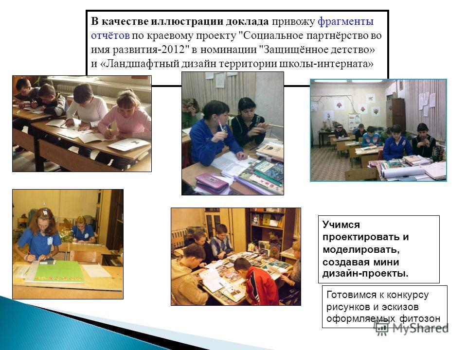 В качестве иллюстрации доклада привожу фрагменты отчётов по краевому проекту