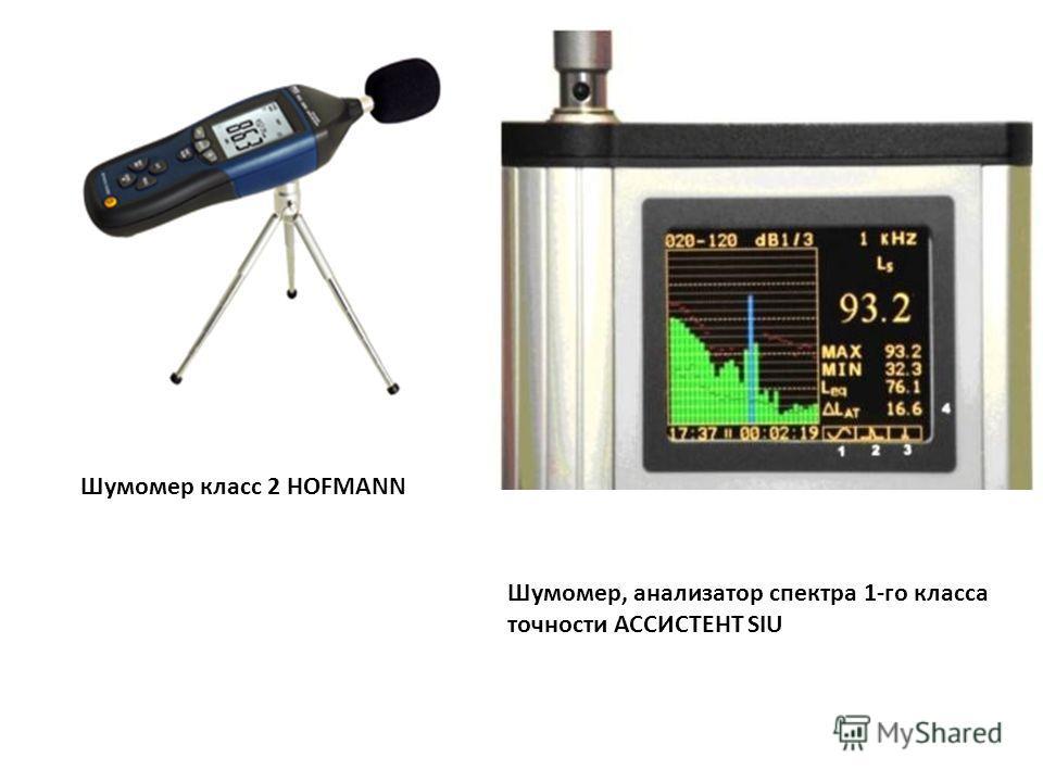 Шумомер класс 2 HOFMANN Шумомер, анализатор спектра 1-го класса точности АССИСТЕНТ SIU