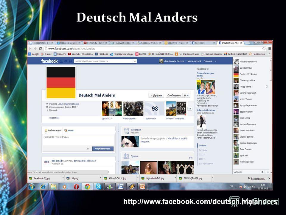 Deutsch Mal Anders http://www.facebook.com/deutsch.malanders