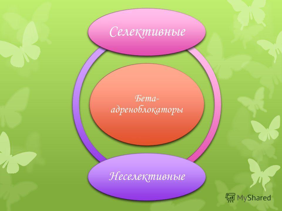 Бета- адреноблокаторы Селективные Неселективные