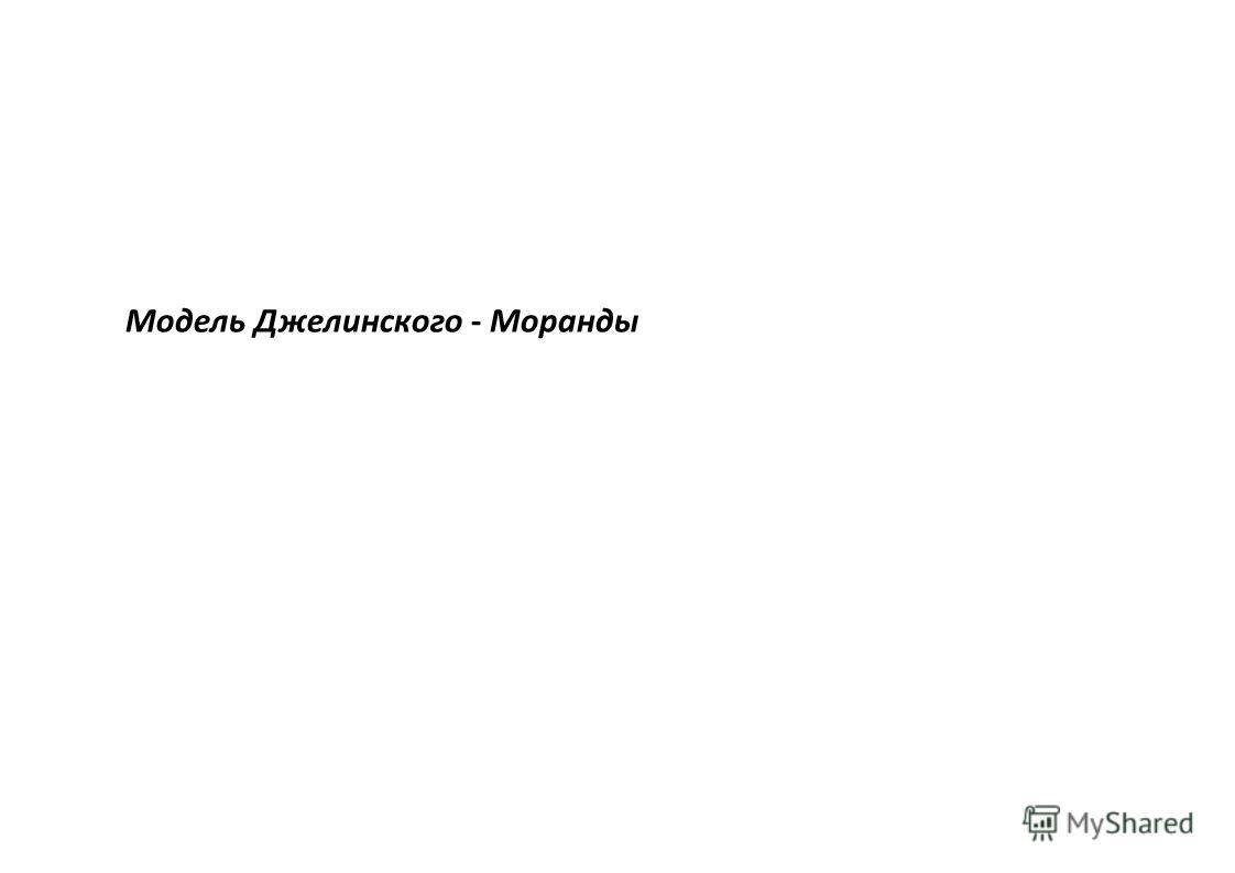 Модель Джелинского - Моранды