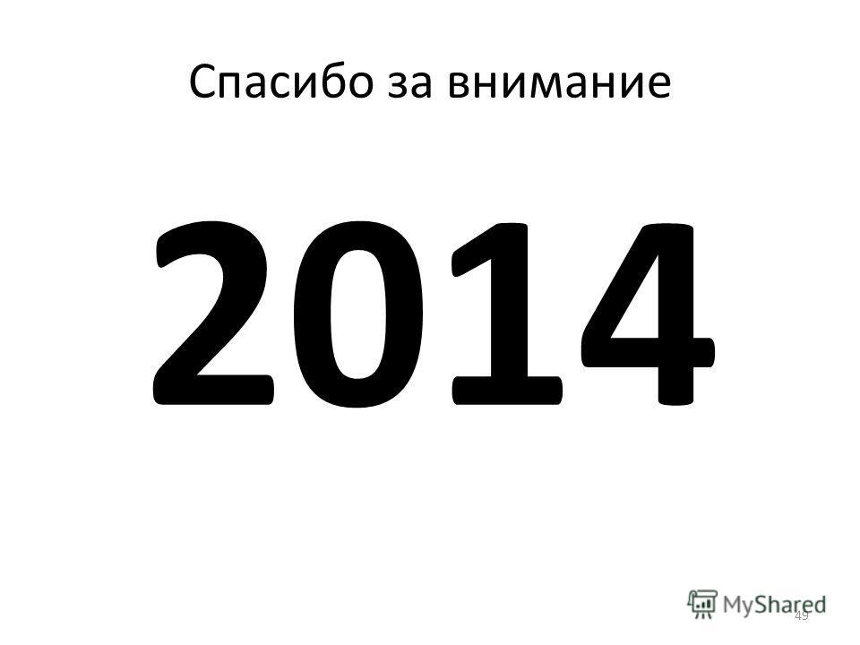 49 Спасибо за внимание 2014