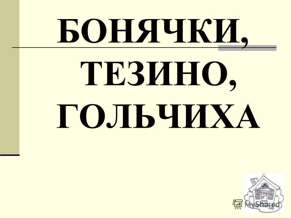 БОНЯЧКИ, ТЕЗИНО, ГОЛЬЧИХА