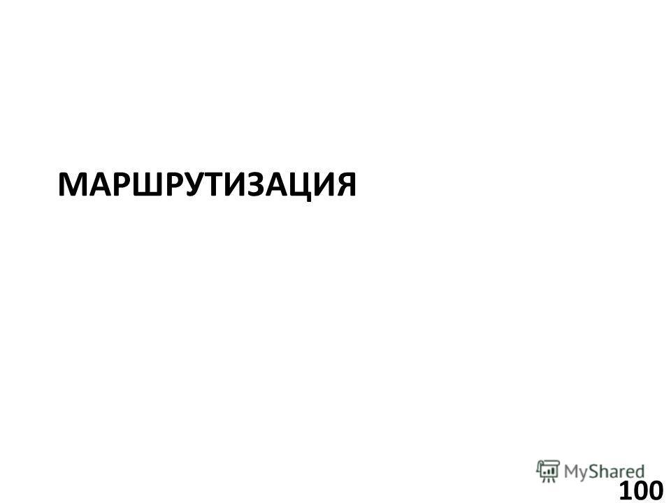 МАРШРУТИЗАЦИЯ 100