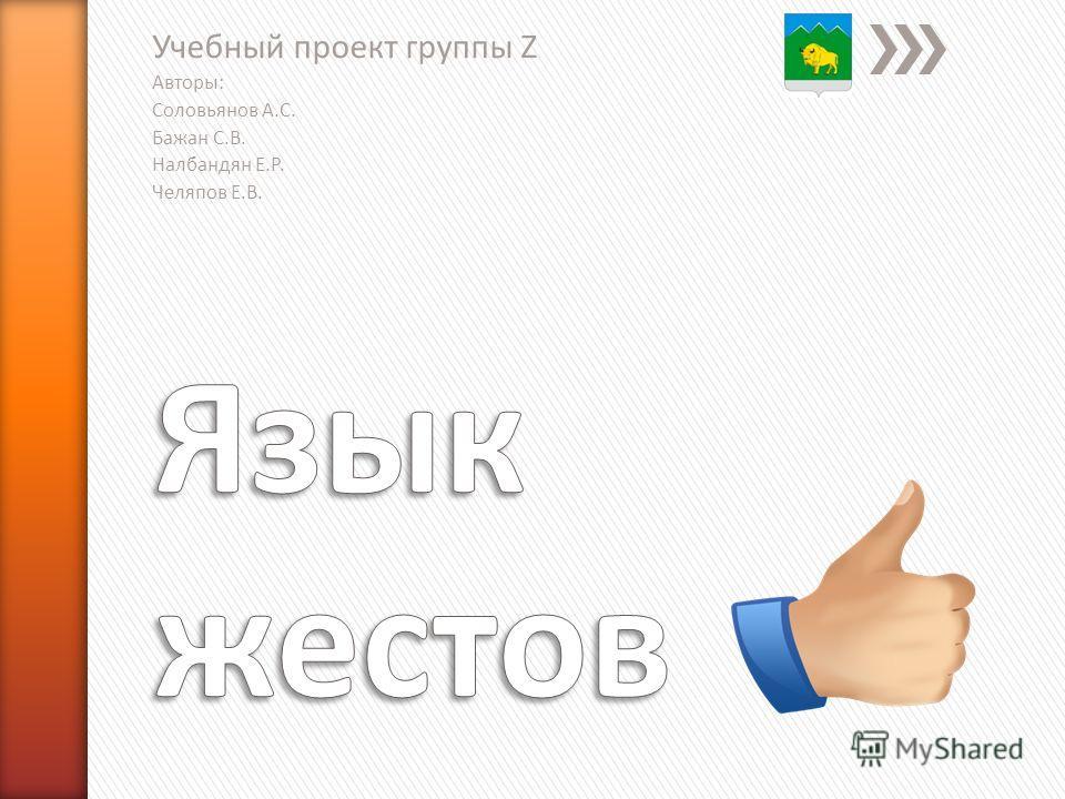 Учебный проект группы Z Авторы: Соловьянов А.С. Бажан С.В. Налбандян Е.Р. Челяпов Е.В.