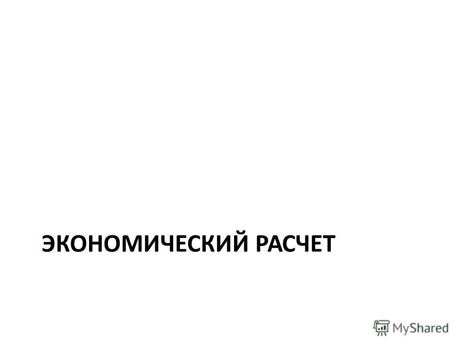 ЭКОНОМИЧЕСКИЙ РАСЧЕТ