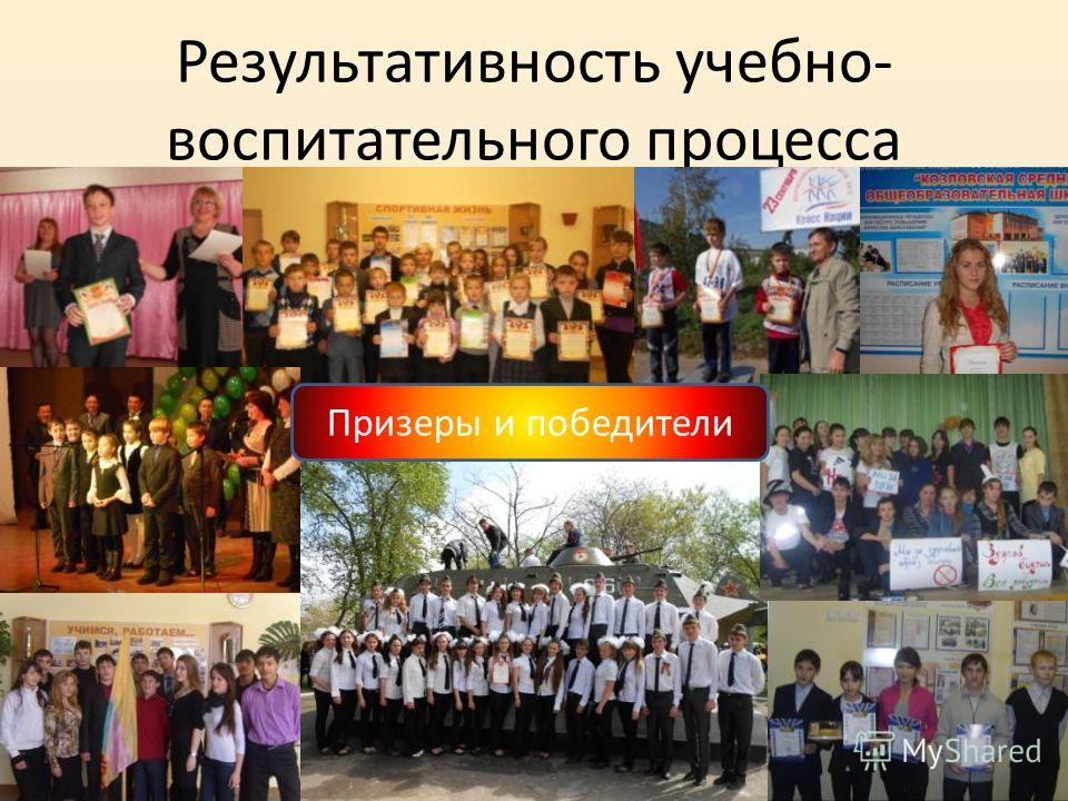 Результативность учебно- воспитательного процесса Призеры и победители