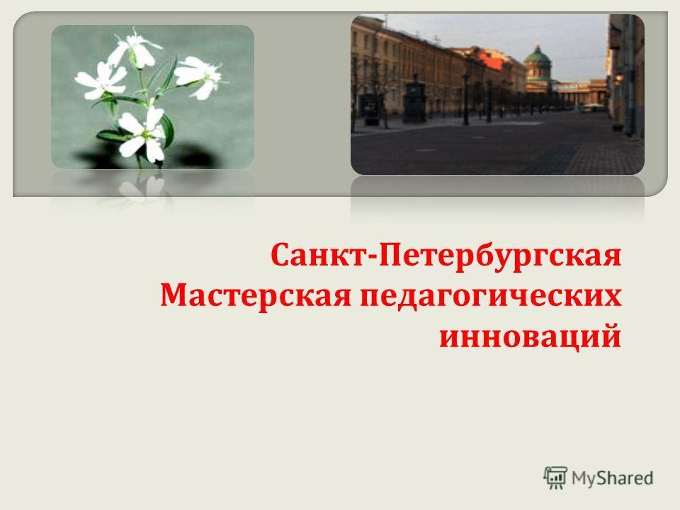Санкт - Петербургская Мастерская педагогических инноваций