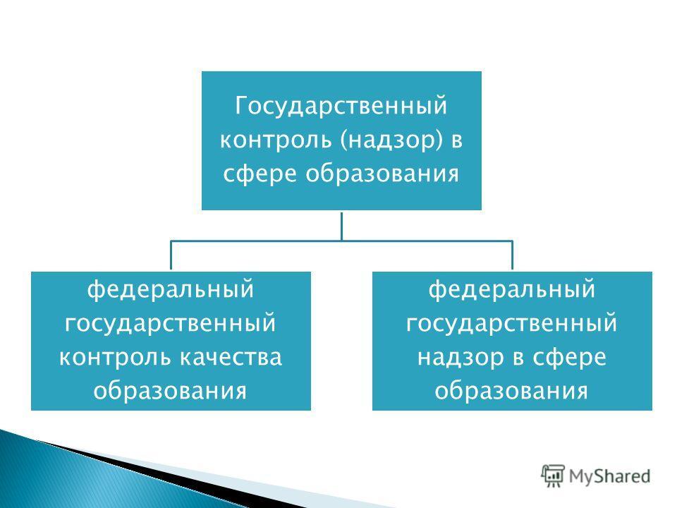 Государственный контроль (надзор) в сфере образования федеральный государственный контроль качества образования федеральный государственный надзор в сфере образования