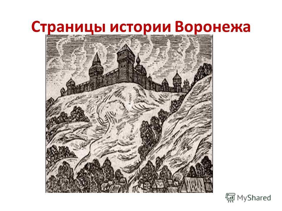 Страницы истории Воронежа