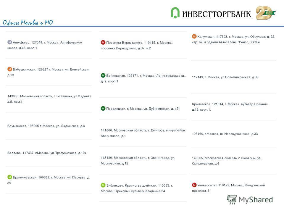 Офисы Москвы и МО