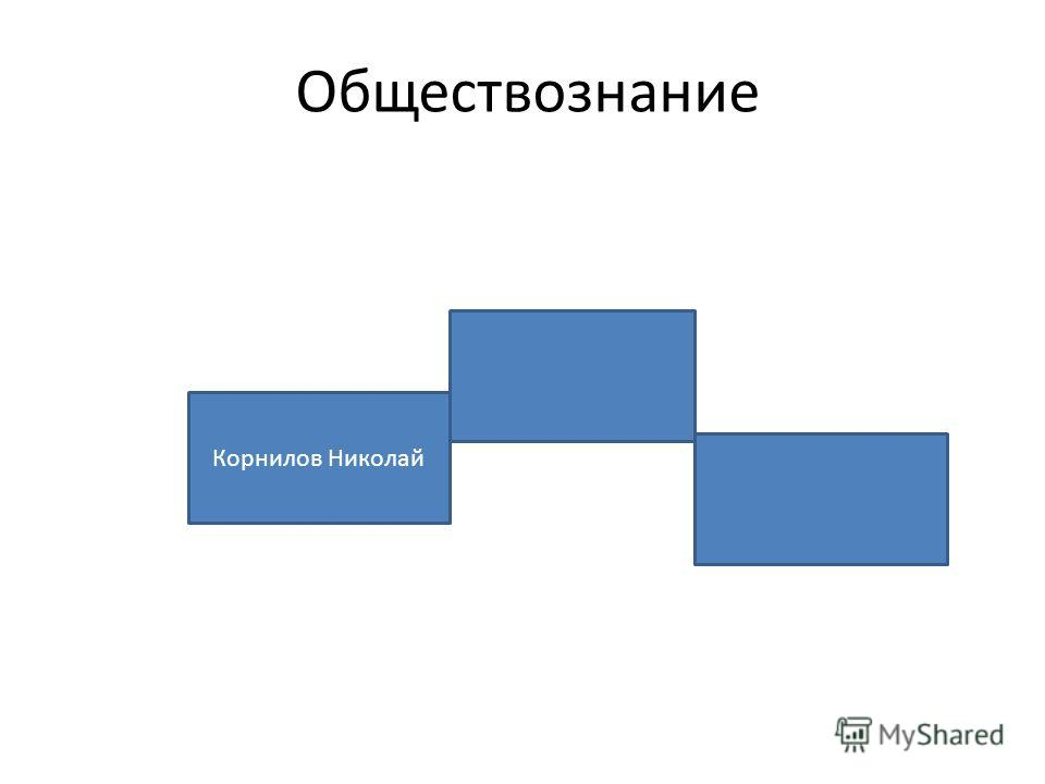 Обществознание Корнилов Николай