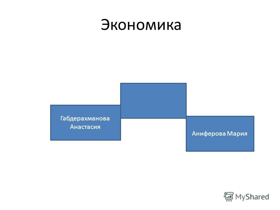 Экономика Габдерахманова Анастасия Аниферова Мария