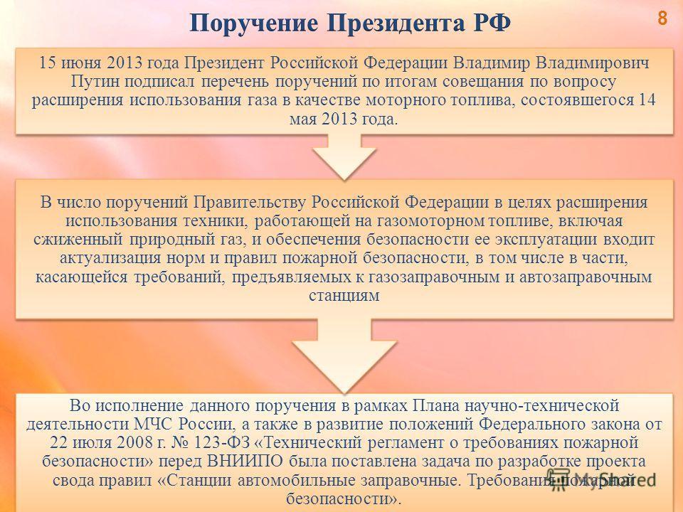 Во исполнение данного поручения в рамках Плана научно-технической деятельности МЧС России, а также в развитие положений Федерального закона от 22 июля 2008 г. 123-ФЗ «Технический регламент о требованиях пожарной безопасности» перед ВНИИПО была постав