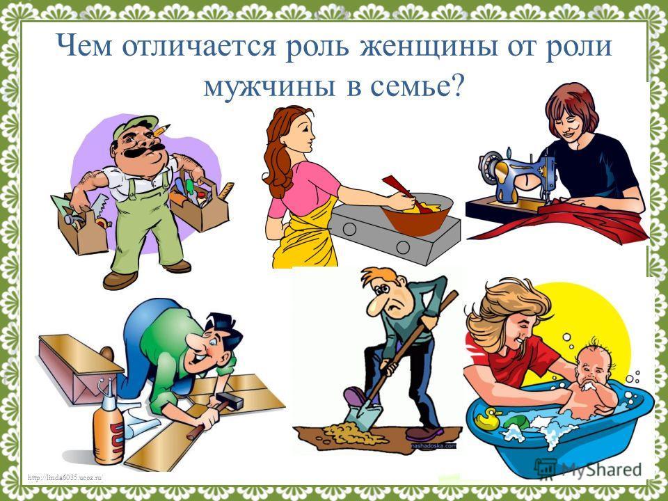 http://linda6035.ucoz.ru/ Чем отличается роль женщины от роли мужчины в семье?