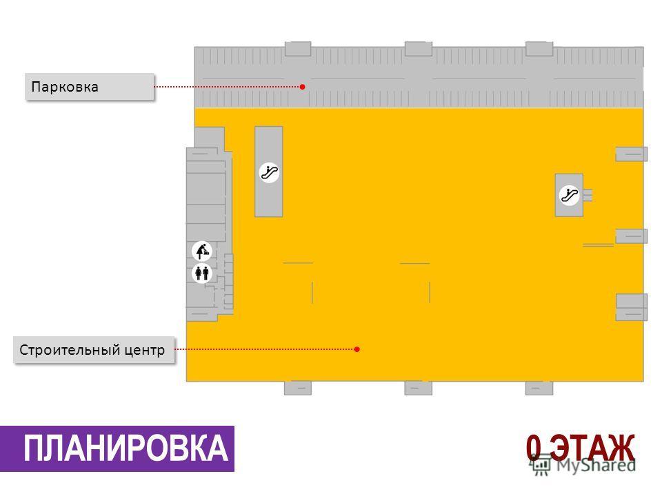 ПЛАНИРОВКА Парковка Строительный центр 0 ЭТАЖ
