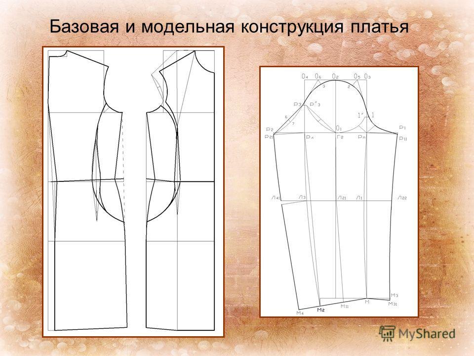 Базовая и модельная конструкция платья