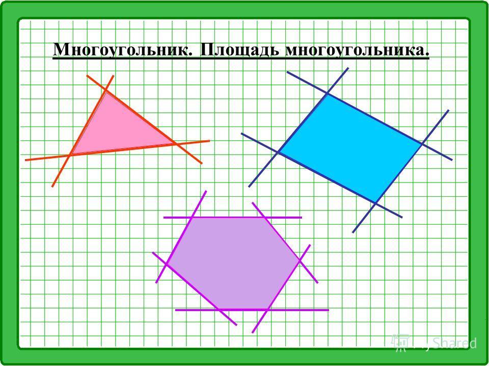 Многоугольник. Площадь многоугольника.
