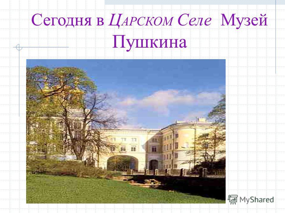 Сегодня в Ц АРСКОМ Селе Музей Пушкина