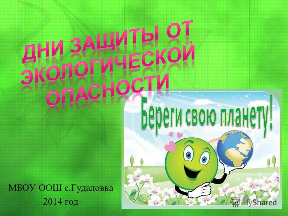 МБОУ ООШ с.Гудаловка 2014 год