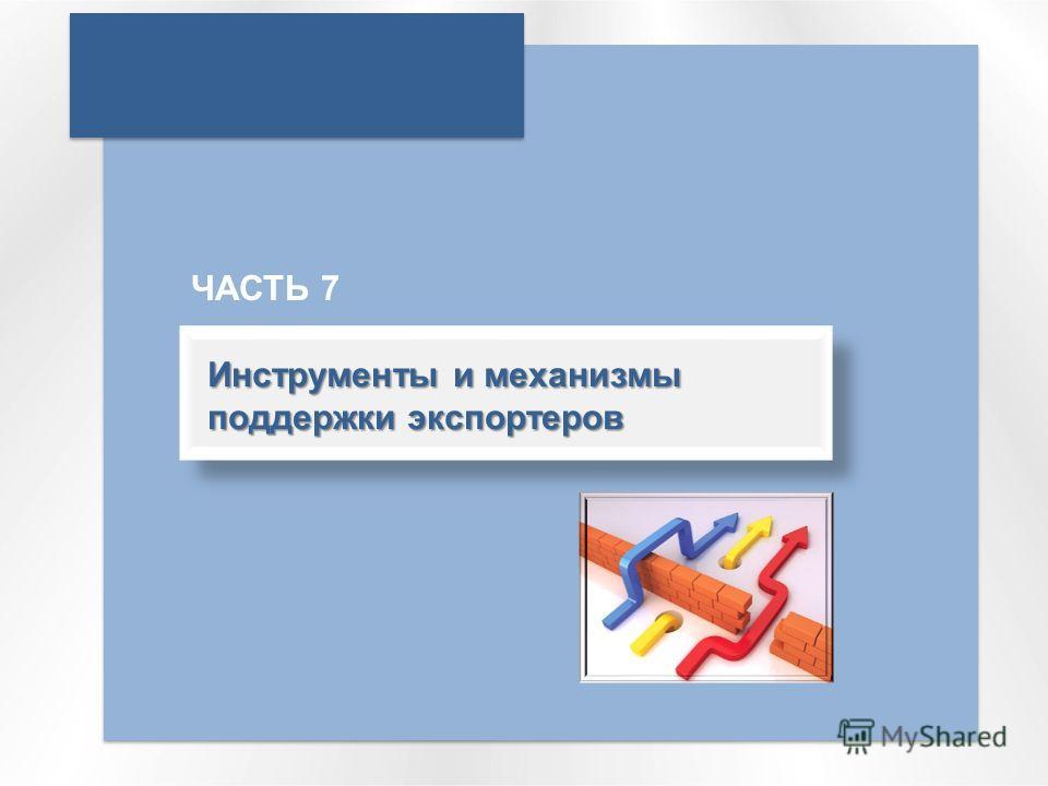 Инструменты и механизмы поддержки экспортеров ЧАСТЬ 7