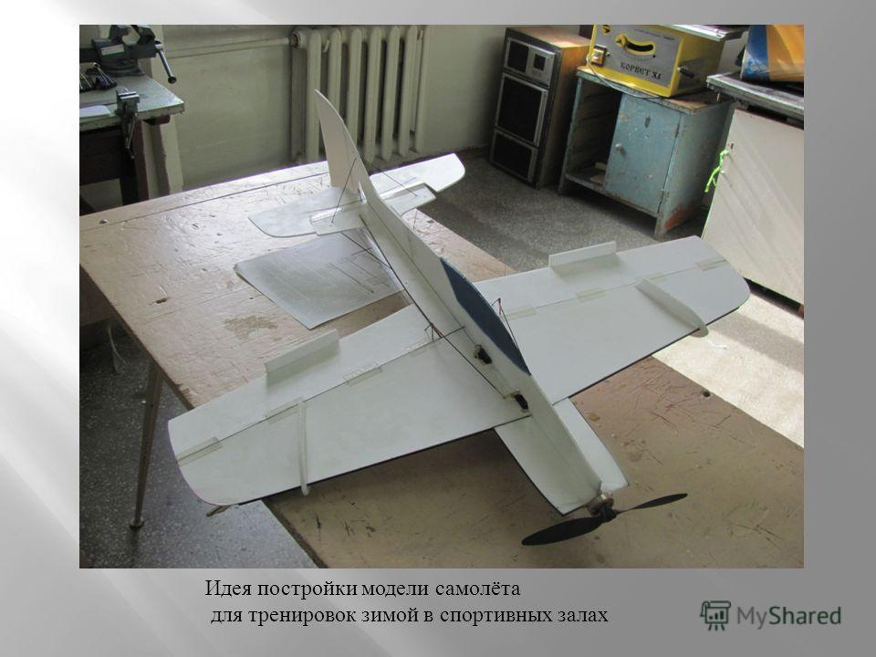 Идея постройки модели самолёта для тренировок зимой в спортивных залах