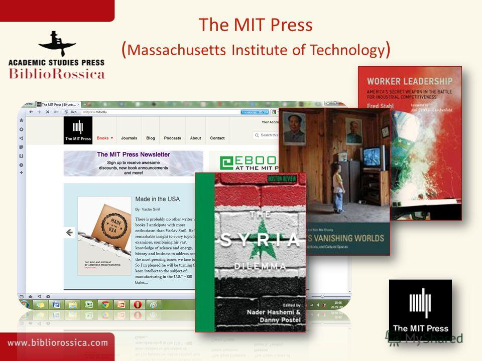 The MIT Press ( Massachusetts Institute of Technology )
