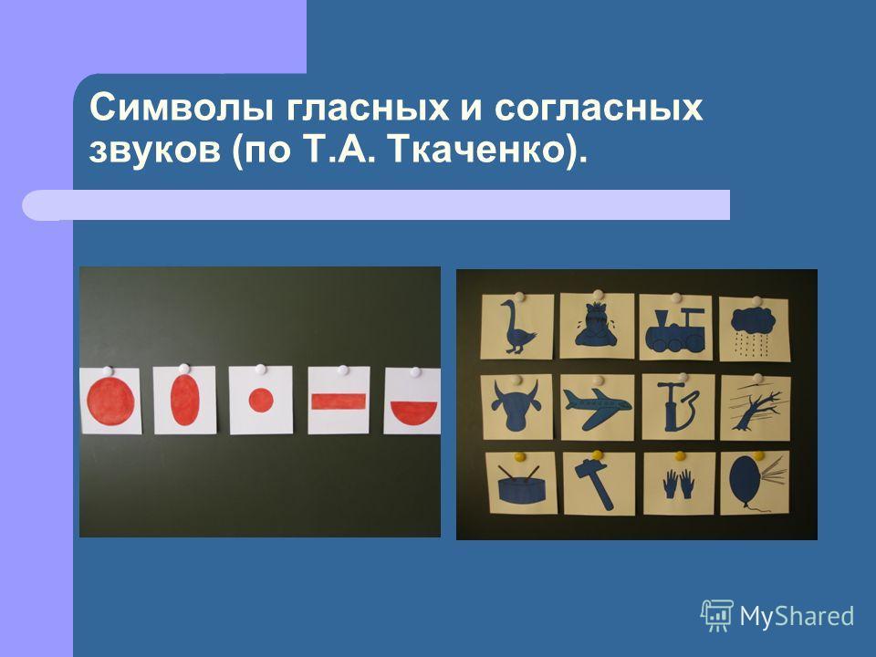 Символы гласных и согласных звуков (по Т.А. Ткаченко).