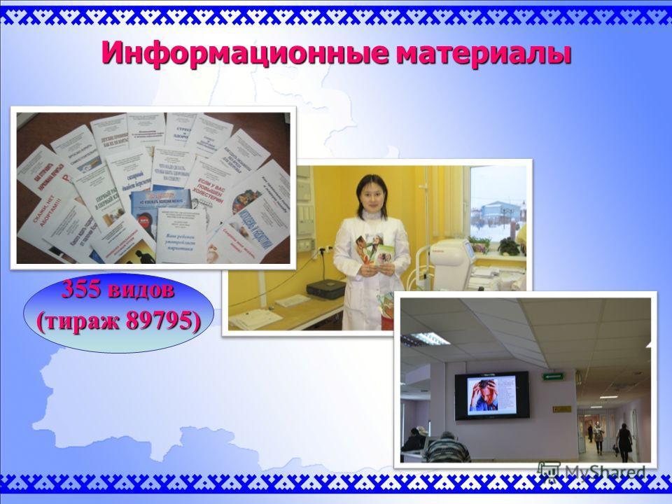 Информационные материалы 355 видов (тираж 89795)