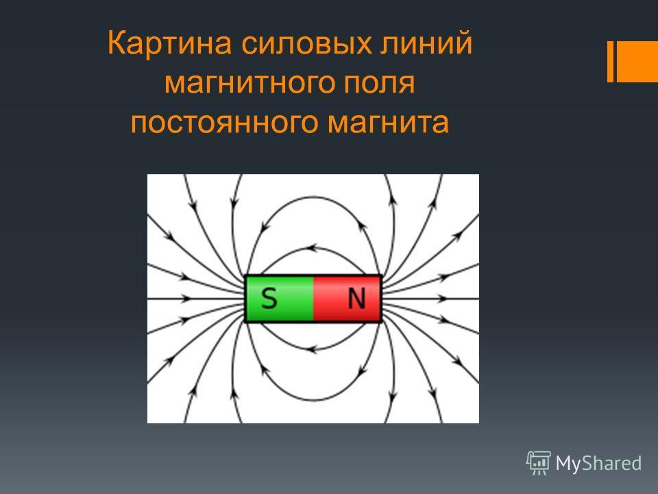 Картина силовых линий магнитного поля постоянного магнита