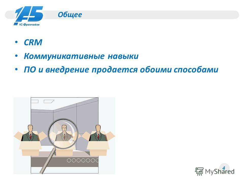 Общее CRM Коммуникативные навыки ПО и внедрение продается обоими способами 4