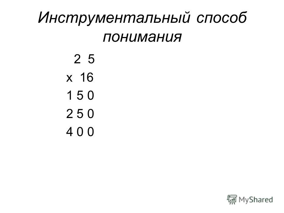 Инструментальный способ понимания 2 5 x 16 1 5 0 2 5 0 4 0 0