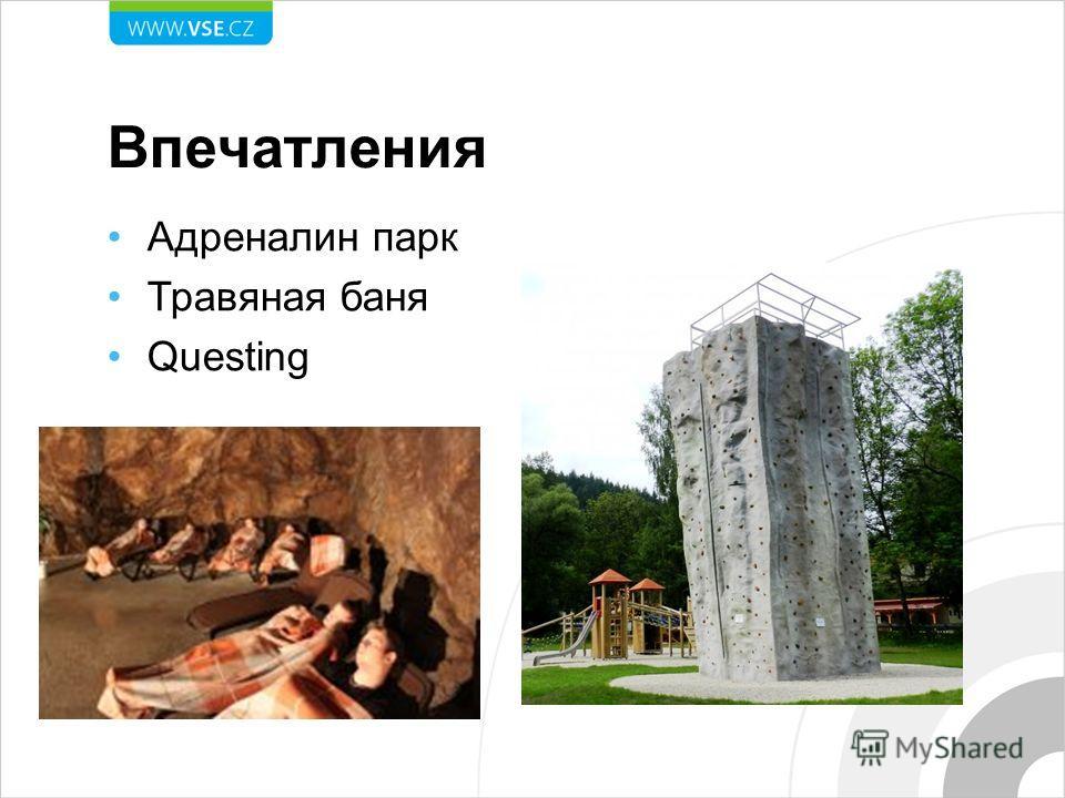 Впечатления Адреналин парк Травяная баня Questing