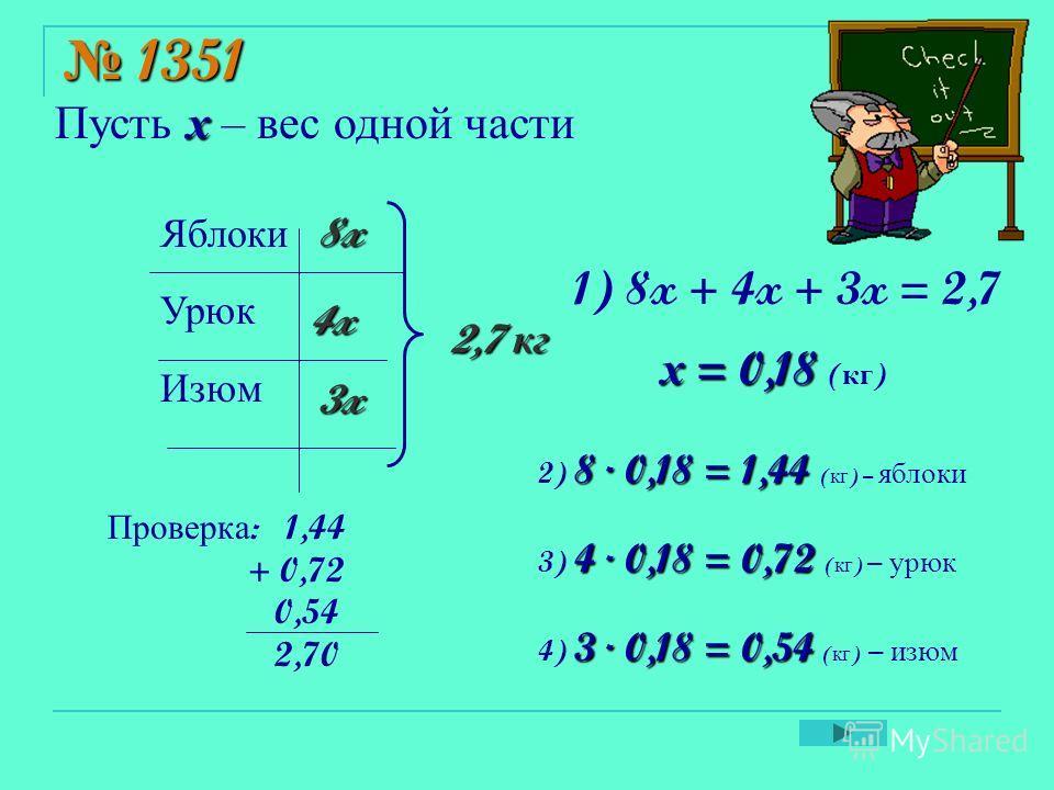 Устный счёт а ) 2,5 – 1,6 3,2 – 1,4 0,47 – 0,27 0,64 – 0,15 0,71 – 0,28 б ) 1,8 + 2,5 2,7 + 1,6 0,63 + 0,17 0,38 + 0,29 0,55 + 0,45 в ) 54,52 – 1,2 4 – 0,8 1 – 0,45 0,57 + 3 1,64 +0,36 = 0,9 = 1,8 = 0,2 = 0,49 = 0,43 = 4,3 = 4,3 = 0,8 = 0,67 = 1 = 53