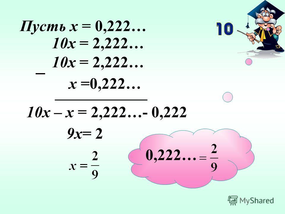 Докажите, что равенства верны: а) 0,222…= Задание 6 б) 0,8181…= в) 0,4666 …=