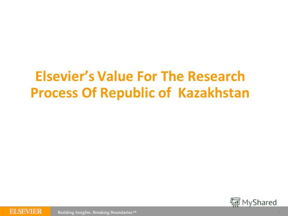 Elseviers Value For The Research Process Of Republic of Kazakhstan 9