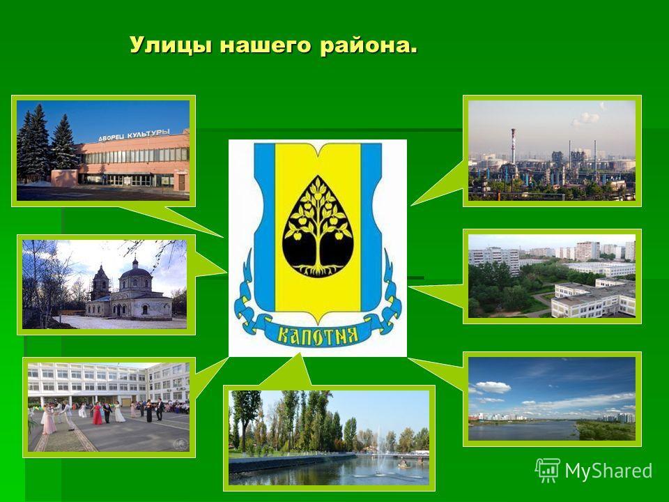 Улицы нашего района.