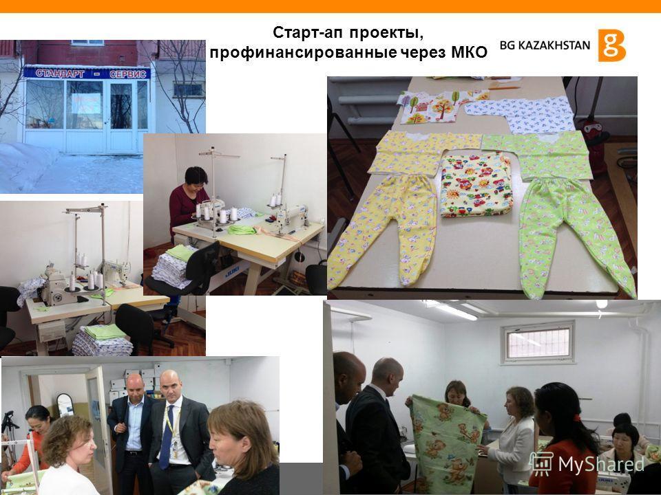 12 Старт-ап проекты, профинансированные через МКО
