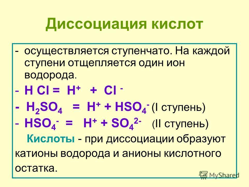 Электролитическая диссоциация веществ, идущая с образованием свободних ионов объясняет электрическую проводимость растворов. CaCl 2 = Ca 2+ + 2Cl - KAl(SO 4 ) 2 = K + + Al 3+ + 2SO 4 2- HNO 3 = H + + NO 3 - Ba(OH) 2 = Ba 2+ + 2OH -