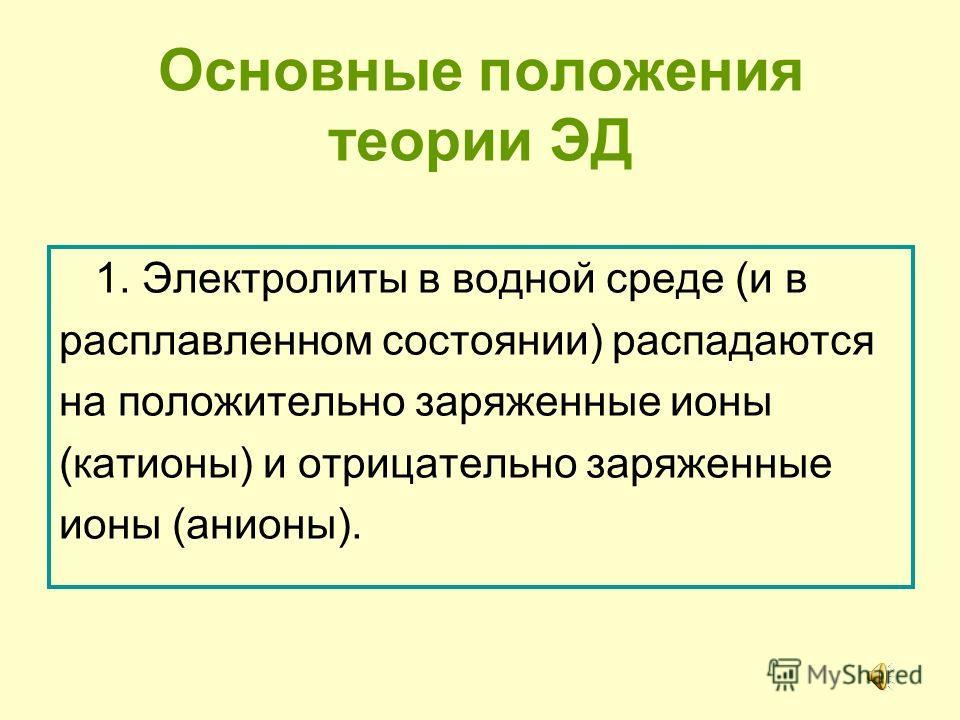 Русские химики И.А.Каблуков и В.А.Кистяковский применили к объяснению электролитической диссоциации химическую теорию растворов Д.И.Менделеева и доказали, что при растворении электролита происходит химическое взаимодействие растворенного вещества с в