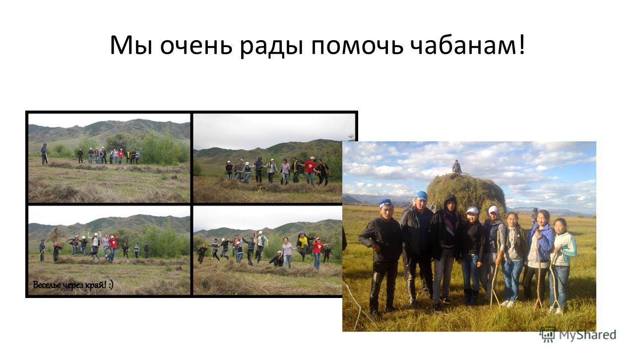 Мы очень рады помочь чабанам!