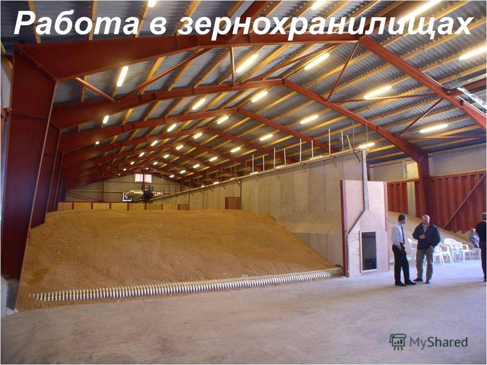 Работа в зернохранилищах