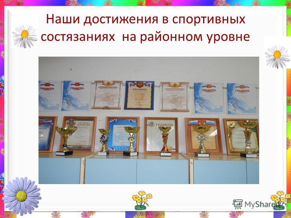 Наши достижения в спортивных состязаниях на районном уровне