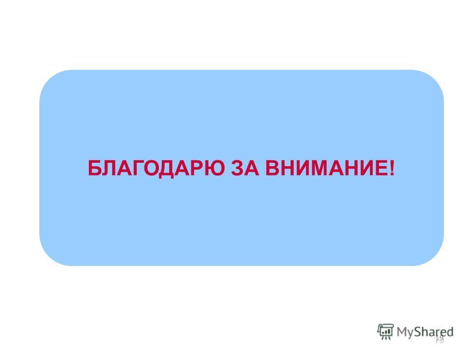 19 БЛАГОДАРЮ ЗА ВНИМАНИЕ! 19