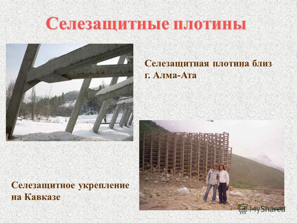 Селезащитные плотины Селезащитная плотина близ г. Алма-Ата Селезащитное укрепление на Кавказе