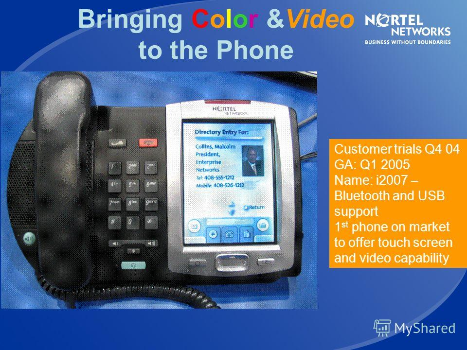 i2004/02 Phase II IP Phones Integrated Power Over Ethernet IEEE 802.3af, Legacy PoL, Cisco proprietary Full VLAN Support for VLAN tagging of data and voice from IP phone Future proof for 802.1x, EAP authentication Future proof for SIP stack Future pr