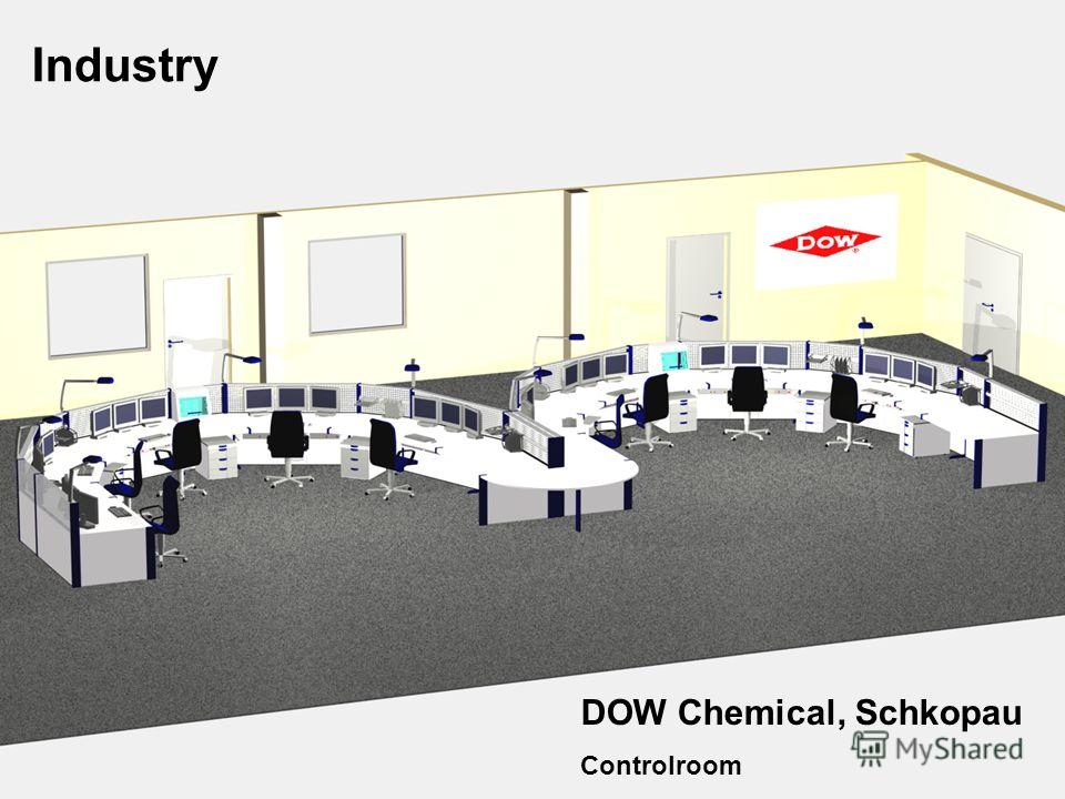 Knürr Technical Furniture Industry DOW Chemical, Schkopau Controlroom
