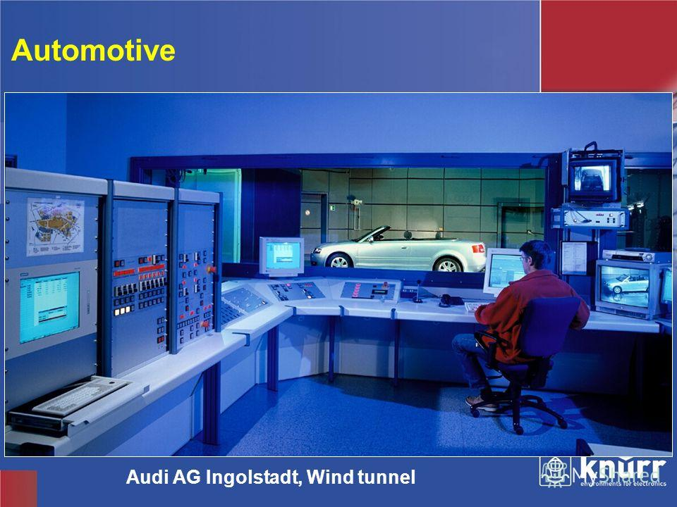 Knürr Technical Furniture Automotive Audi AG Ingolstadt, Wind tunnel