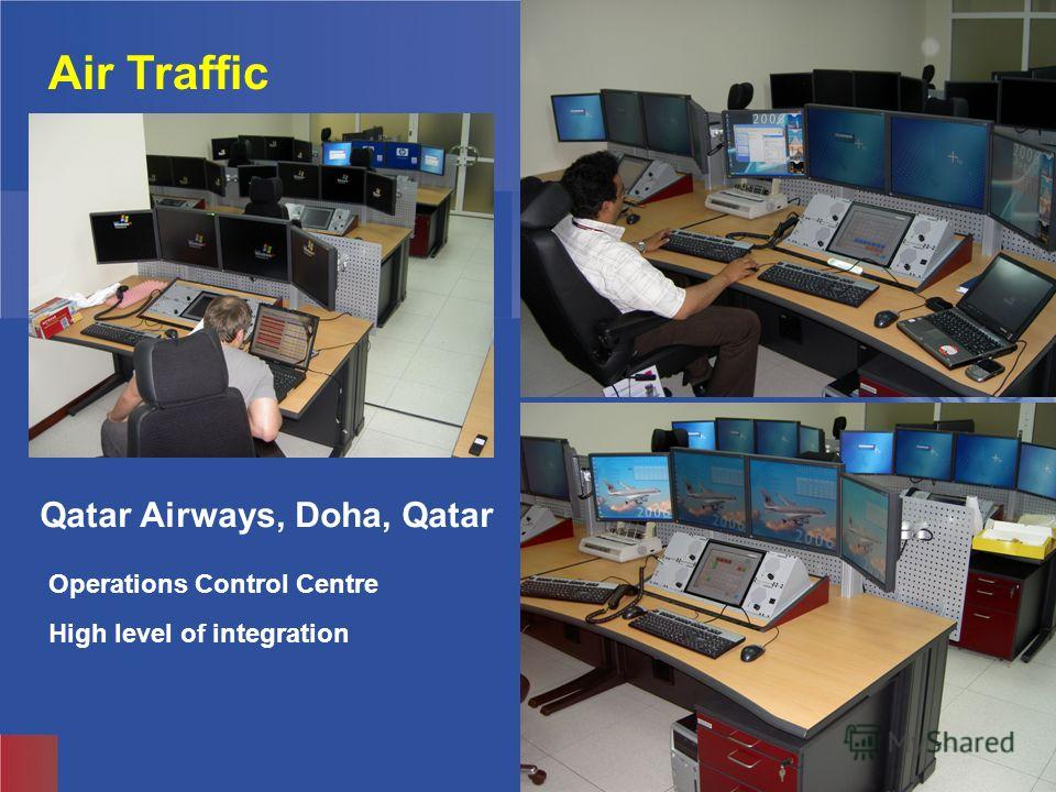 Knürr Technical Furniture Air Traffic Operations Control Centre High level of integration Qatar Airways, Doha, Qatar