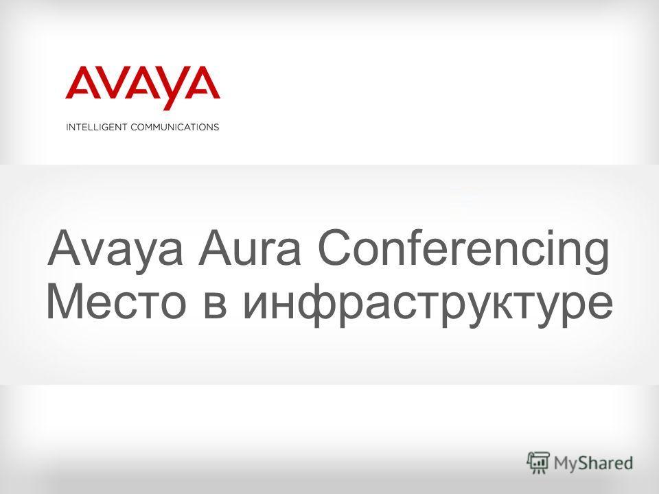 Avaya Aura Conferencing Место в инфраструктуре